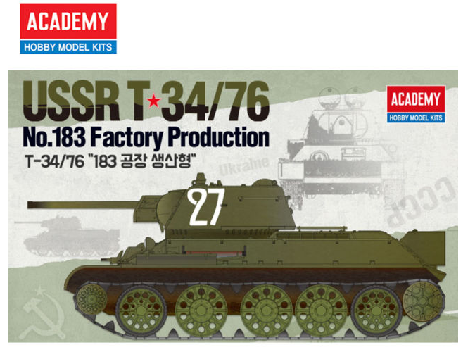 1/35 Academy T-34/76 NO. 183 Factory Production