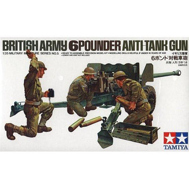 1/35 Tamiya British 6 Pounder Anti Tank Gun