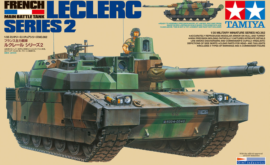 1/35 Tamiya Leclerc Serie 2 French MBT