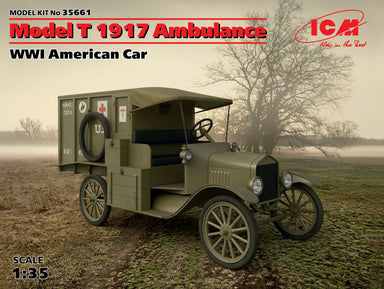 1/35 ICM Model T 1917 Ambulance, WWI Amercan Car