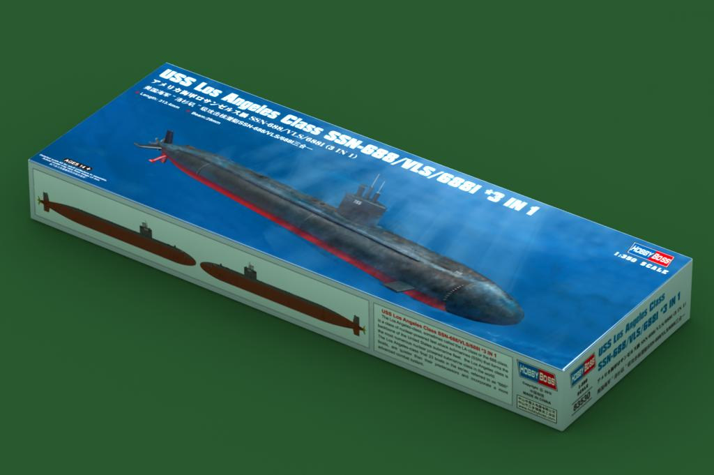 1/350 Hobby Boss Los Angeles Class SSN-688/VLS/688i 3n'1