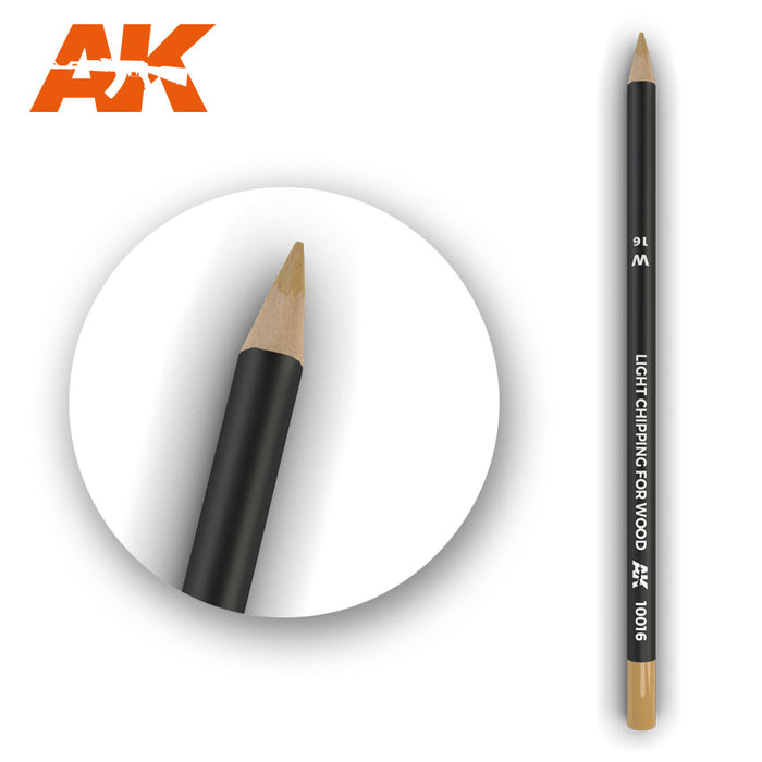 AK Interactive Weathering Pencil - Light Chipping for Wood
