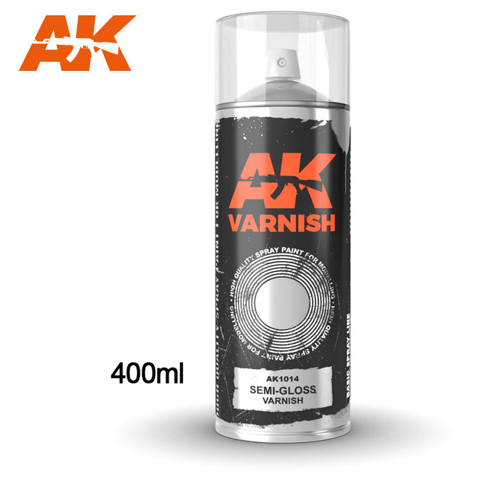 AK Interactive SEMI-GLOSS VARNISH SPRAY