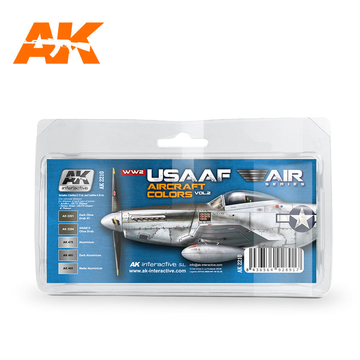 AK Interactive WWII USAAF Aircraft Colors Vol. 2