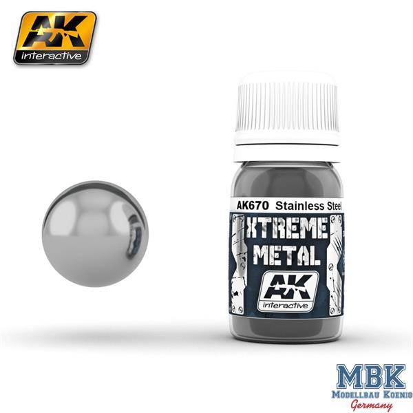 AK Interactive Xtreme Metal Stainless Steel 30ml