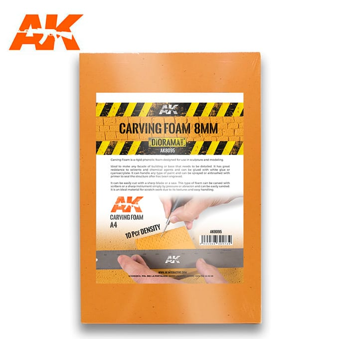 AK Interactive Carving Foam 8mm