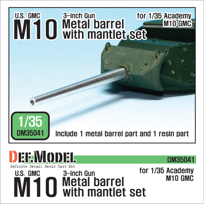 1/35 Def Model U.S. M10 GMC Barrel and Mantlet Set