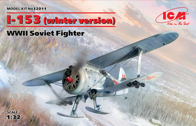 1/32 ICM I-153 (Winter Version), WWII Soviet Fighter