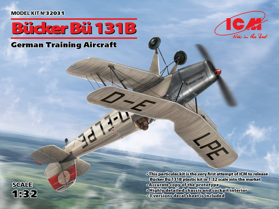 1/32 ICM Bücker Bü 131B, German Training Aircraft