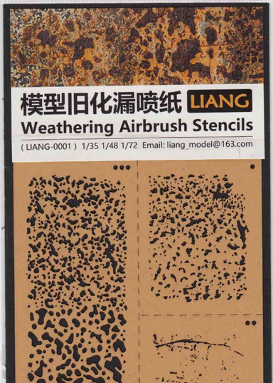 Liang Model Weathering Airbrush Stencils