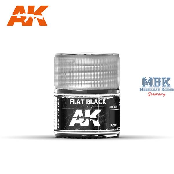 AK Interactive Real Colors : Flat Black 10ml