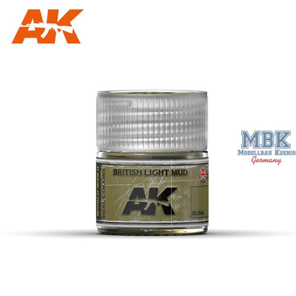 AK Interactive Real Colors : British Light Mud 10ml