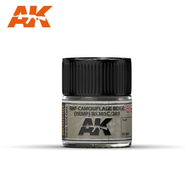 AK Interactive Real Colors : RAF Camouflage Beige (HEMP) 10ml
