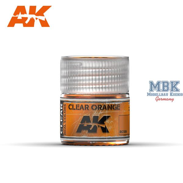 AK Interactive Real Colors : Clear Orange 10ml