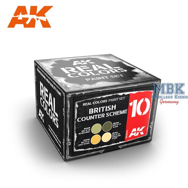 AK Interactive Real Colors British Counter Scheme Set