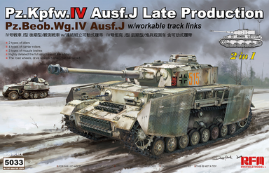 1/35 Rye Field Model Pz.Kpfw.IV Ausf. J Late Production