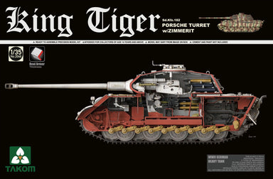 1/35 Takom WWII German King Tiger Porsche Turret  with Zimmerit