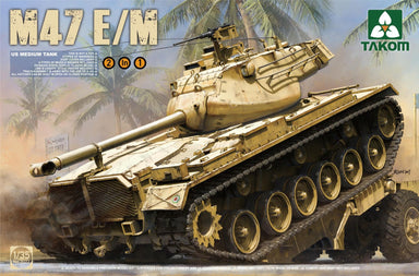 1/35 Takom US Medium Tank M-47 Patton 2in1 E oder M Version