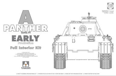 1/35 Takom Panther Ausf. A early prod. full Interior