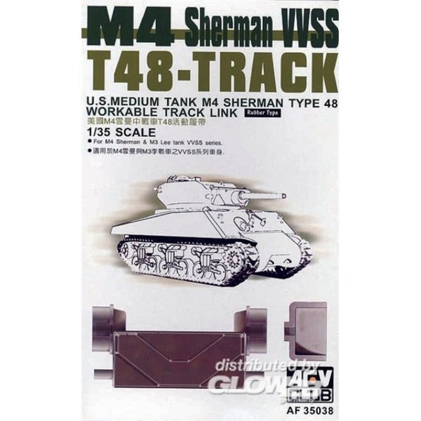 1/35 AFV Club T48 TRACK FOR M4 SHERMAN/M3 LEE VVSS SERIES (WORKABLE)