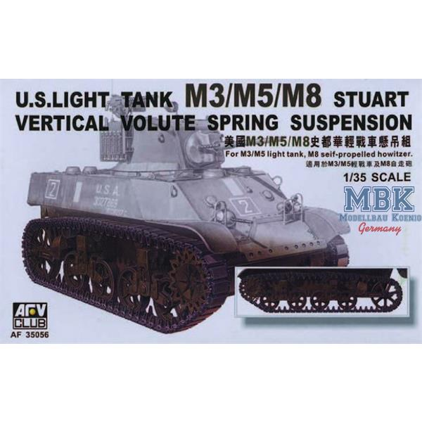 M3 STUART LIGHT TANK VERTICAL VOLUTE SPRING SUSPENSION