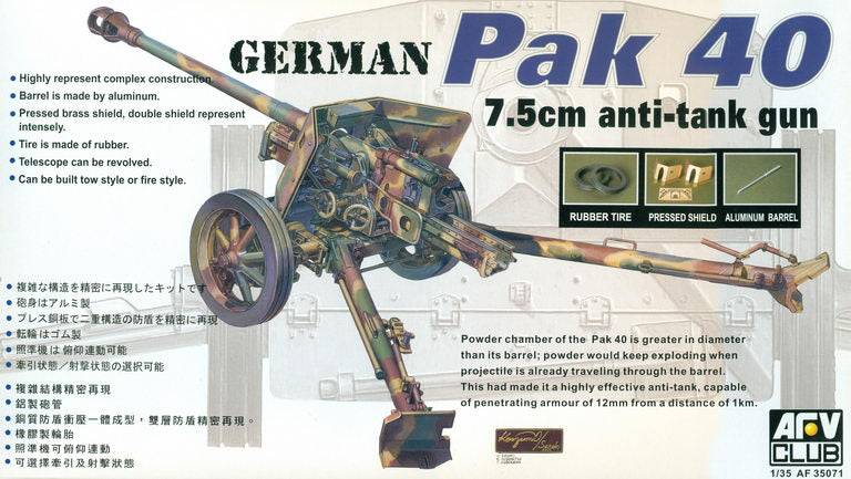 GERMAN Pak 40 75mm ANTI-TANK GUN