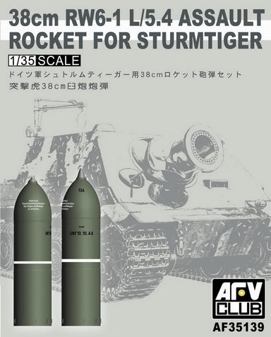 1/35 AFV Club 38cm RW6-1 L/5.4 ASSAULT ROCKET FOR STURMTIGER