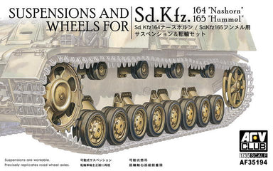 1/35 AFV Club SUSPENSIONS AND WHEELS FOR Sd.Kfz.164 NASHORN / HUMMEL