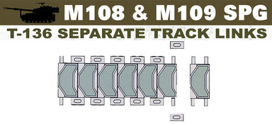 1/35 AFV Club T-136 TRACK FOR M108/M109 (WORKABLE)