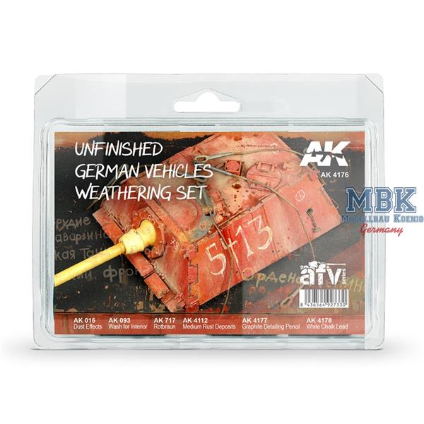 AK Interactive Unfinished German Vehicles Weathering Set