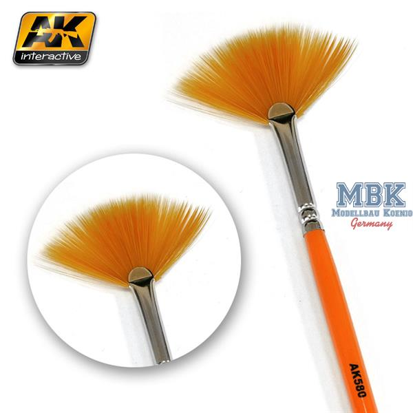 AK Interactive Fan Weathering Brush