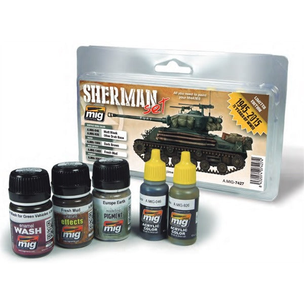 Starter Set for late WWII Sherman (Fury)