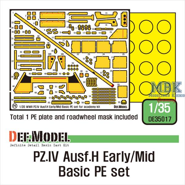 1/35 Def ModelGerman Pz.IV Ausf.H Early/Mid Basic PE set