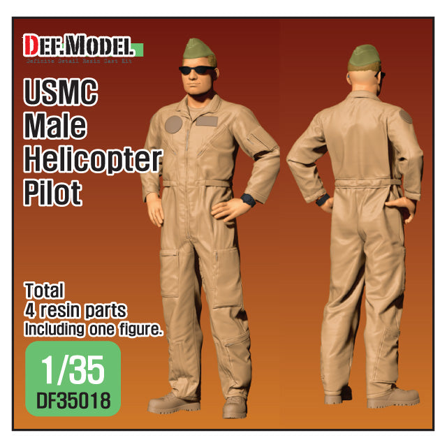 1/35 Def Model USMC Male Helicopter Pilot