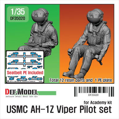 1/35 Def Model USMC AH-1Z Viper Pilot set for Academy