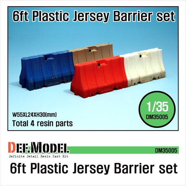 1/35 Def Model Modern 6ft Plastic Jersey Barrier set