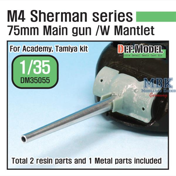 1/35 Def Model Sherman 75mm M3 Main Gun w/Late Mantlet Set