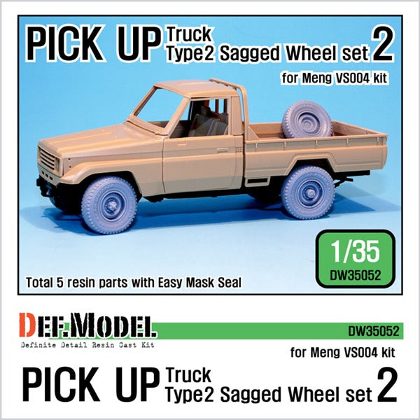 1/35 Def Model Pick up truck Type 2 Sagged Wheel set #2