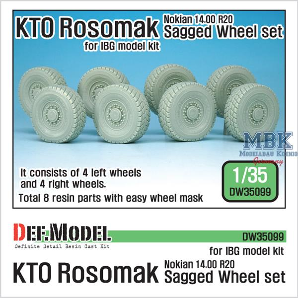 1/35 Def Model KTO Rosomak Nokian Sagged Wheel set