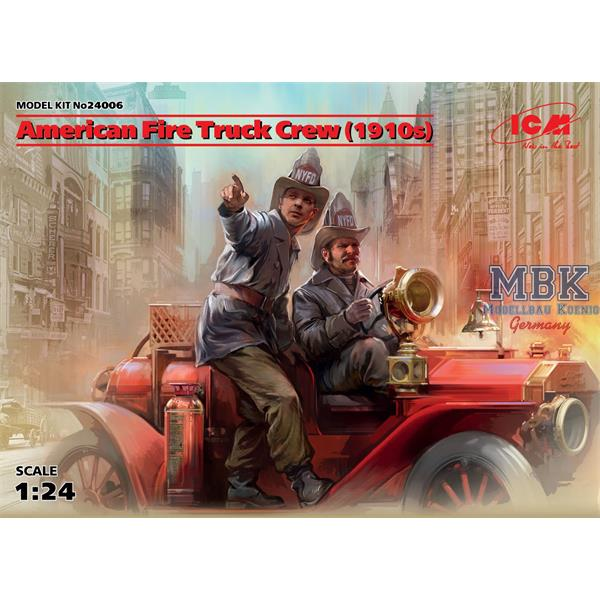 1/24 ICM American Fire Truck Crew (1910's) with Two Figures