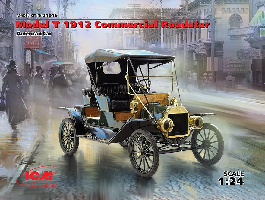 1/24 ICM Model T 1912 Commercial Roadster,