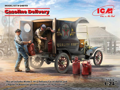 1/24 ICM Gasoline Delivery Model t 1912 & Gasoline Loaders