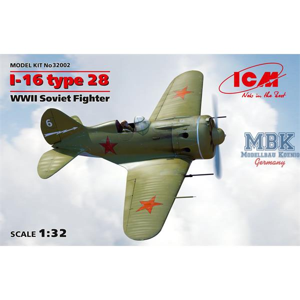 1/32 ICM I-16 Type 28, WWII Soviet Fighter