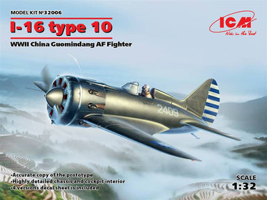 1/32 ICM I-16 Type 10, WWII China Guomindang AF  Fighter
