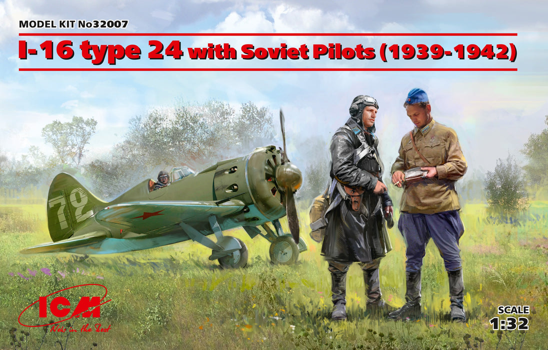 1/32 ICM I-16 Type 24 with Soviet Pilots (1939-1942)