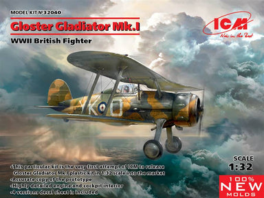 1/32 ICM Gloster Gladiator Mk.I, WWII British Fighter