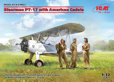 1/32 ICM Stearman PT-17 with American Cadets