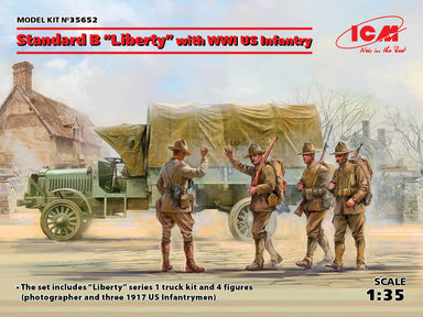 "1/35 ICM Standard B ""Liberty"" with WWI US Infantry"