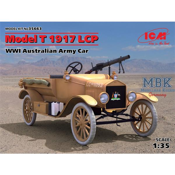 1/35 ICM Model T 1917 LCPW, WWI Australian Army Car