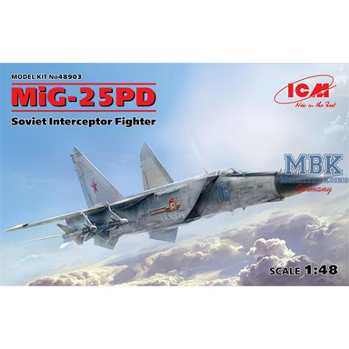 1/48 ICM MiG-25 PD, Soviet Interceptor Fighter